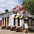 Restaurant in Paraty - Stock Photo