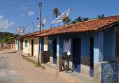Houses with parabols — Stock Photo