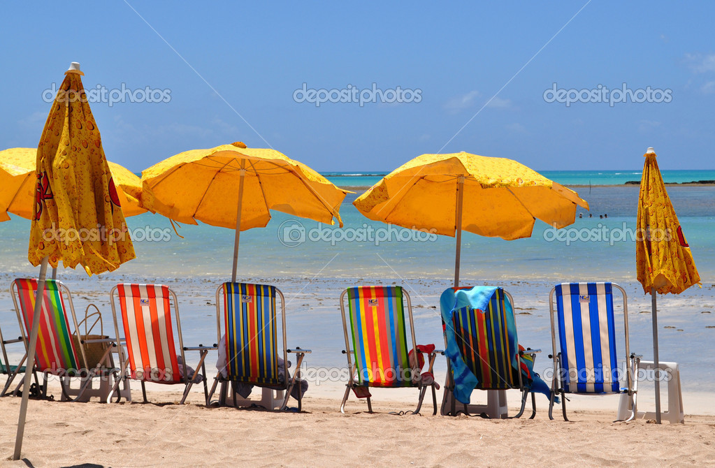 Calm beach by Maceio — Stock Photo #3505008