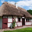 Old house from the funen village - Stock Photo