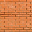 Light orange brick wall background and texture — Foto de Stock