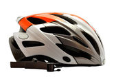 Cycling helmet for cross country riding isolated on white — Stock Photo