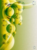 Green abstract vector with copyspace — Stock Photo