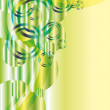 Green abstract vector with glitters and copyspace — Stok Vektör #3772235