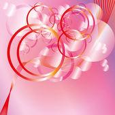 Fondo rosa círculos en estilo glamour — Vector de stock