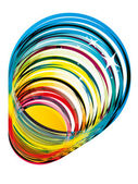 Funky colorful glass vector — Stock Vector