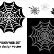 Spider web set icons for design - Stock Vector