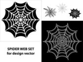 Spider web set icons for design — Stock Vector