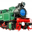 Vintage steam train 1935-1957 - Stock Photo