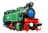 Vintage steam train 1935-1957 — Stock Photo