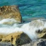 Waves on rocks — Stock Photo #3551368