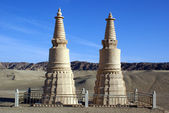 Two stupas — Stock Photo