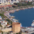 Port Alanya and tower — Stock Photo