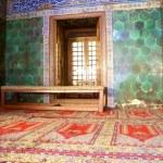 Window inside Green mosque — Stock Photo