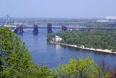 River anbd bridge — Stock Photo