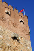 Red tower and redflag — Photo