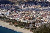пляж и alaya в турции — Стоковое фото