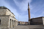 Hamam and mosque — Stock Photo