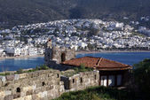 Bodrum and castle on the sea shore, Turkey — Stock Photo