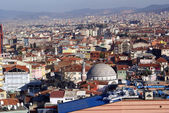 Mosque and many houses in Bursa — Stock Photo