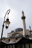 Mosque and lamp — Stock Photo