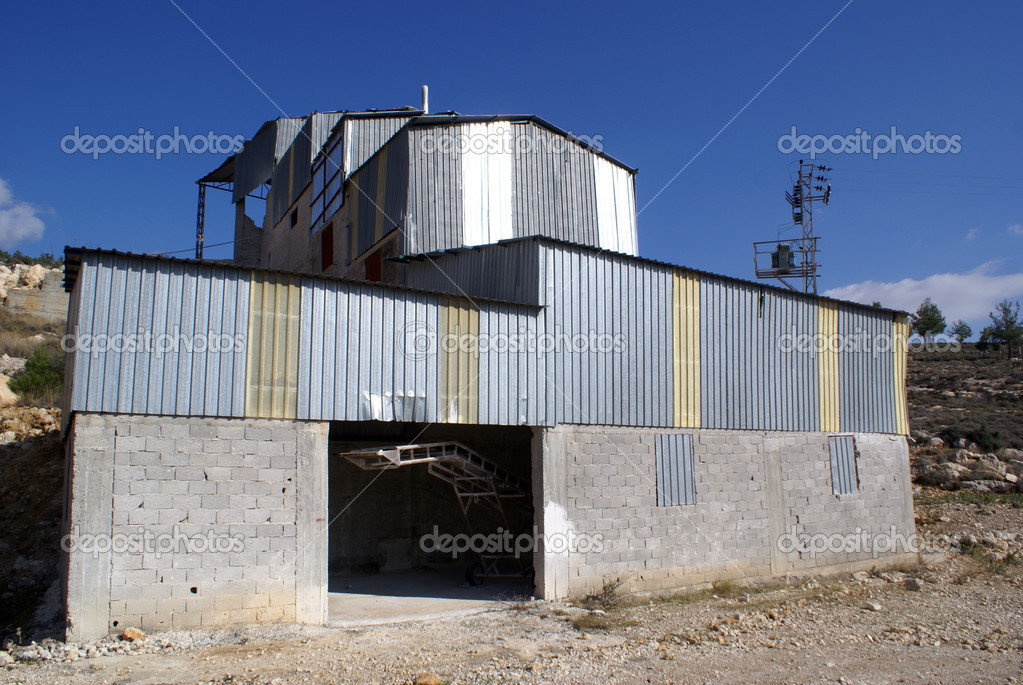 Small cement factory near the road in Turkey                  Stock Photo #3586515