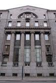 Gray facade — Stock Photo