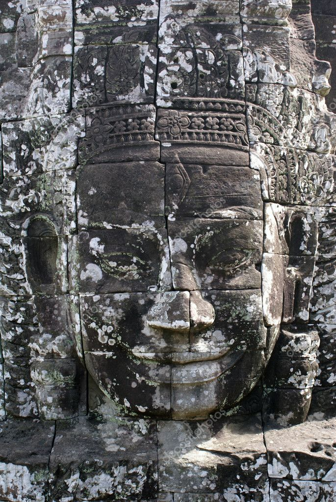 Face in Bayon temple, Angkor, Cambodia                     Stock Photo #3609737