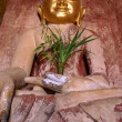 Buddha with golden face — Stock Photo