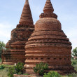 Stock Photo: Brick stupas
