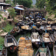 Boats in Nyaungshwe - Stock Photo
