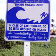 Stock Photo: Tsunamy hazard zone, south Thailand