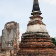 Stupa and ruins - Stock Photo
