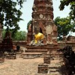 Buddha and pagoda in wat Mahathat — Stockfoto