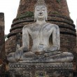 Buddha and stupa — 图库照片