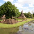 Stock Photo: Wat and moat