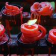 Red candles — Stock Photo #3619365