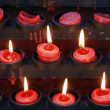 Candles and durck — Foto Stock