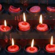 Candles and durck — Stock Photo