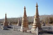 Stupas near Mogao caves, China — Stock Photo