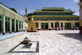 Inside monastery in Mandalay — Stock Photo
