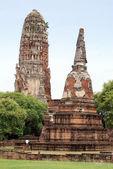 Red brick stupas — Stock Photo