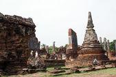 Ruins in wat Phra Si Sanphet — Stock Photo