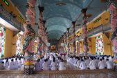 Monks on the floor — Stock Photo