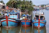 Blue boats — Stock Photo