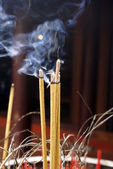 Shrine anf smoke — Stock Photo