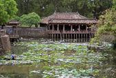 Pavilion and lake — Stock Photo
