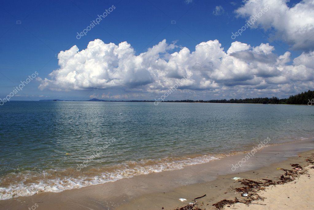 在珍,马来西亚东海岸的海滩– 图库图片
