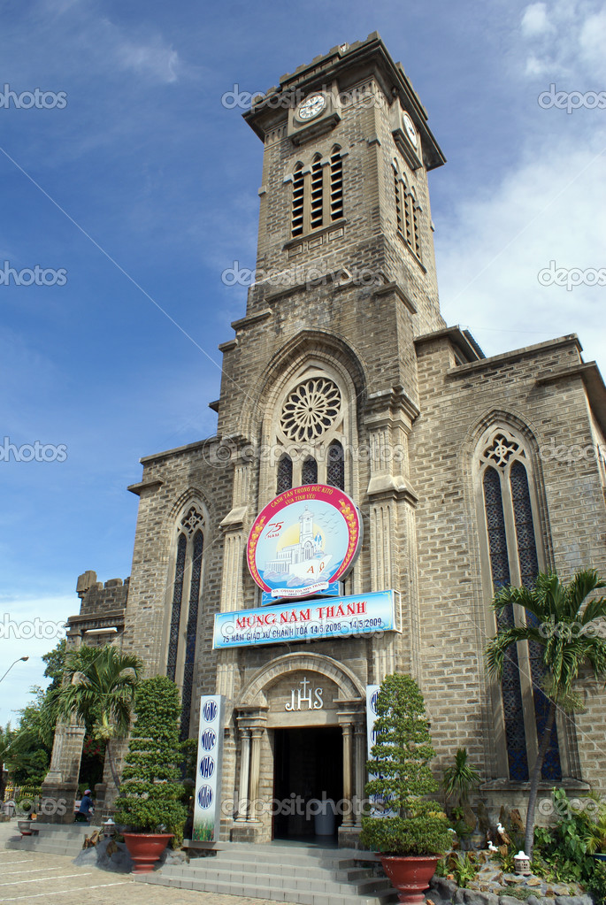 Cathedral in Nha Trang in Vietnam                — Stock Photo #3619563