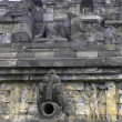 Wall in Borobudur - Foto Stock